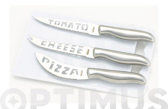 Cuchillo set 3 piezas +tabla cortar