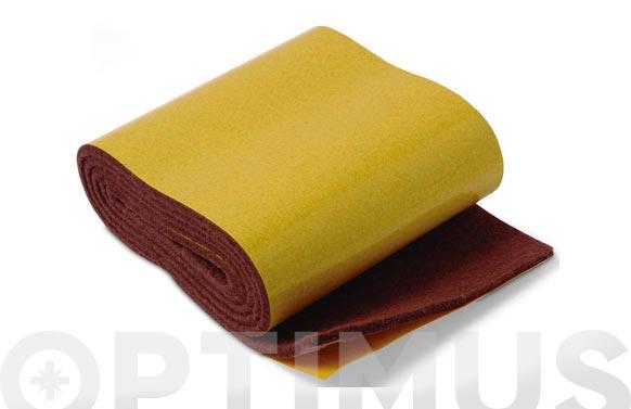 Deslizador de fieltro adhesivo marron 85 mmx100 cm rollo