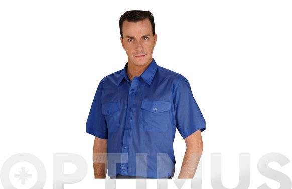 Camisa tergal manga corta l5000 t 38 azulina