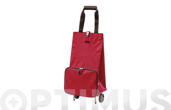 Carro compra 2 ruedas plegable mini rojo