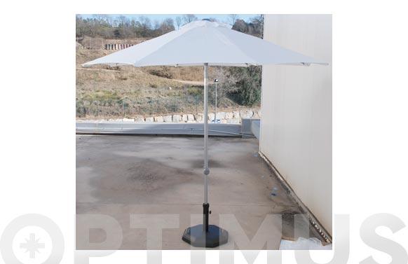 Parasol alum 250 cm tubo 3,8 blanco