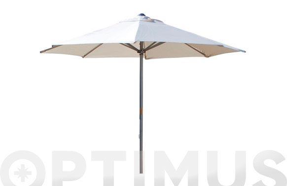 Parasol aluminio blanco 300 cm tubo 48 mm