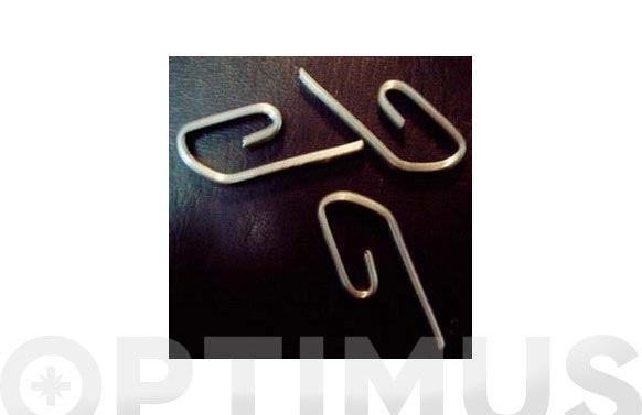 Gancho cortina (caja 1000 u) metalico
