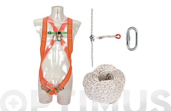 Equipo anticaida completo 20m cuerda