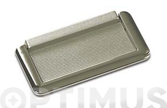 Placa con asa cromo y plata