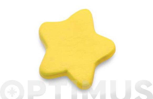 Pomo infantil nylon estrella amarilla