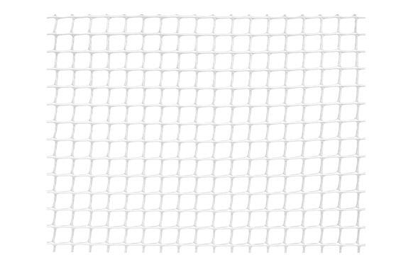 Malla cuadranet (malla 10x10mm) 300gr/m2 1 x 5 m blanca