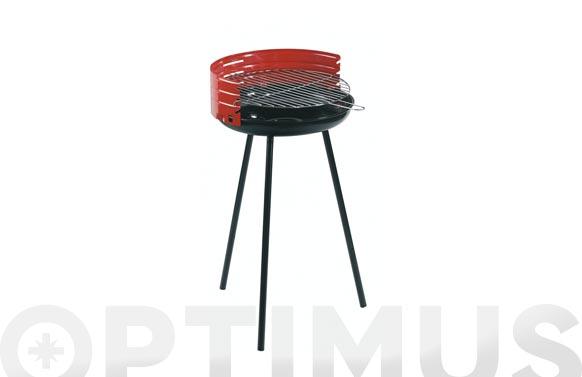 Barbacoa carbon camping rojo ø 42 cm