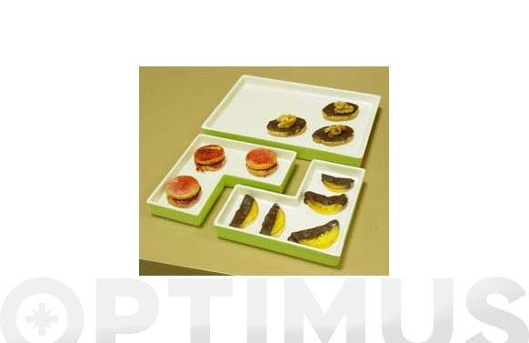 Bandeja aperitivo cuadrado (set 3 unidades) verde