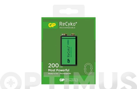 Pila recargable recyko (bl.1) 9v 200mah