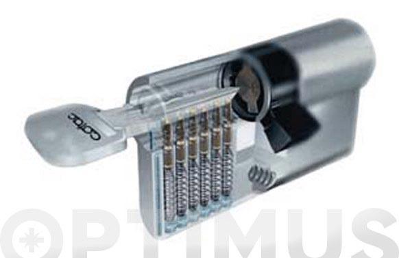 Cilindro laton llave puntos 30-30 leva corta