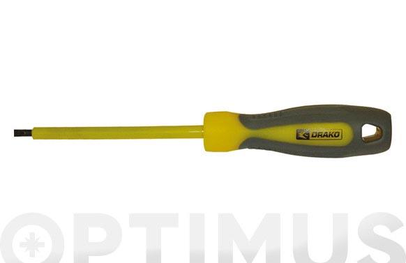 Destornillador punta recta 5,5 x 125 mm. asilamiento en varilla