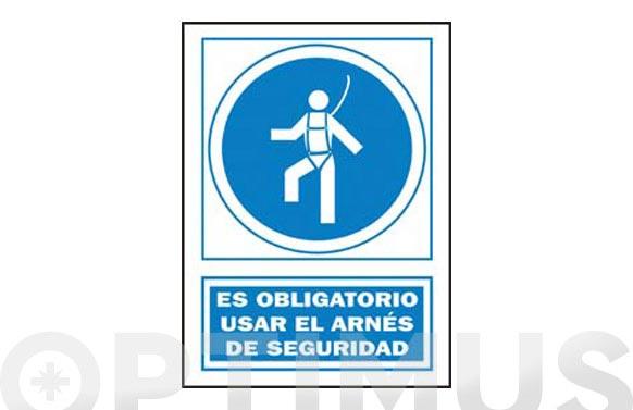 Señal obligacion catalan 297x210 mm obligatori l'ús del arnes
