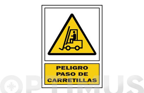 Señal advertencia catalan 297x210 mm pas de carretilla