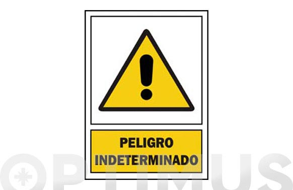 Señal advertencia catalan 297x210 mm perill indeterminat