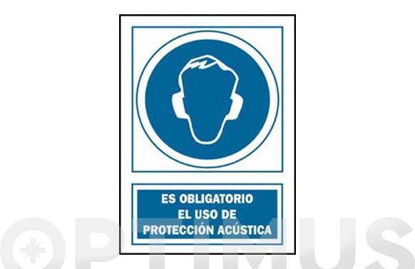 Señal proteccion acustica obligatoria pvc 129 oba-cat