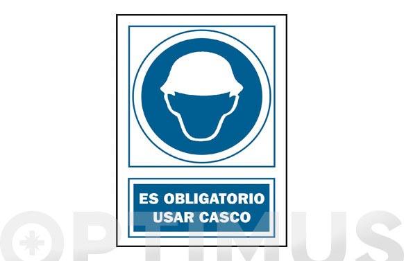 Señal uso casco obligatorio pvc 131 oba-cast