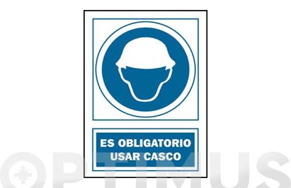 Señal uso casco obligatorio pvc 131 oba cat