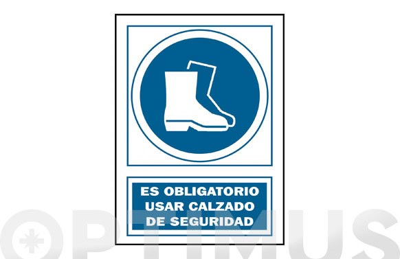 Señal uso botas obligatorio pvc 140 oba-cast