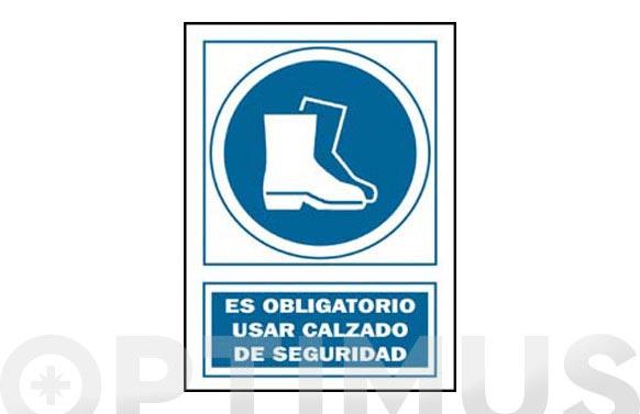 Señal obligacion catalan 297x210 mm calÇat seguretat