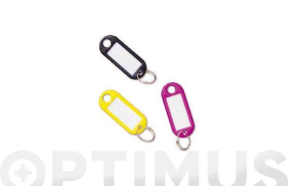 Porta-etiquetas plastico modelo 2 amarillo