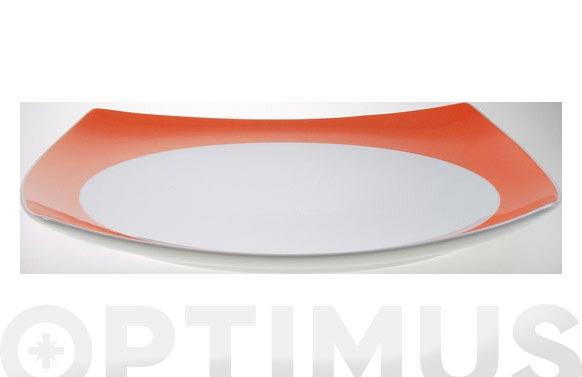 Bandeja porcelana naranja 30cm lotto-4825