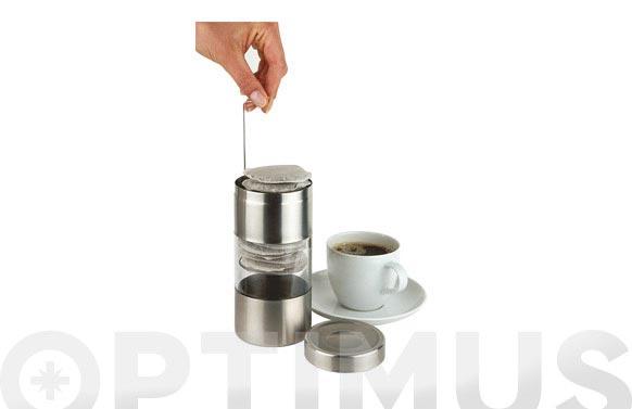 Bote para recargas de cafe inox