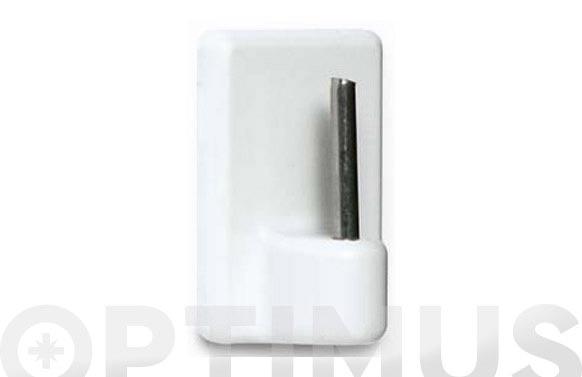 Percha pequeña adhesiva 4 uds blanco