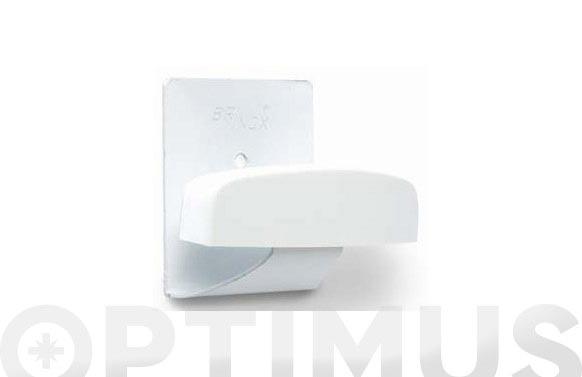 Percha grande adhesiva 2 uds lacado blanco