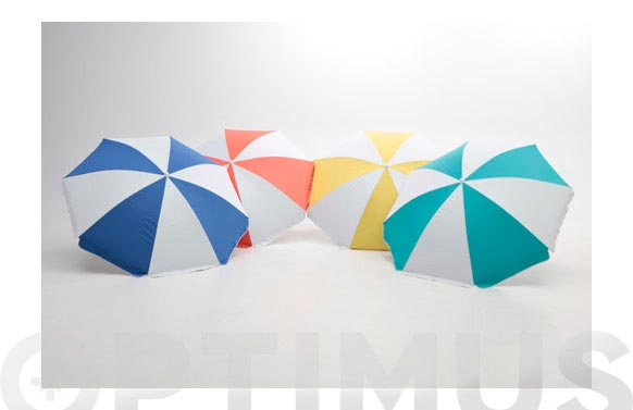 Parasol playa plegable upf50+ 180cm poly-nylon multicolor