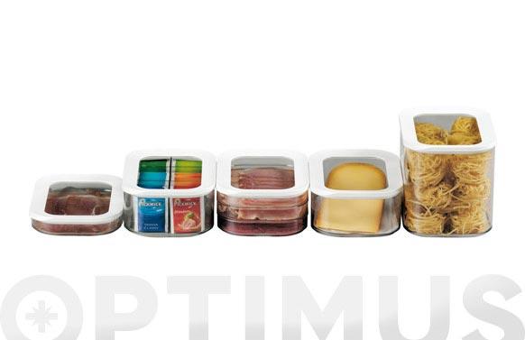 Fiambrera modula embutidos-pack 2u triple 550 ml blanca