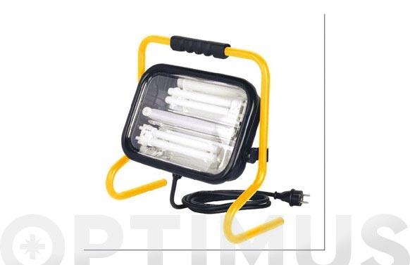 Foco proyector 2 x 18 w con soporte luz fria