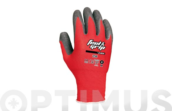 Guante feel and grip t 8 rojo