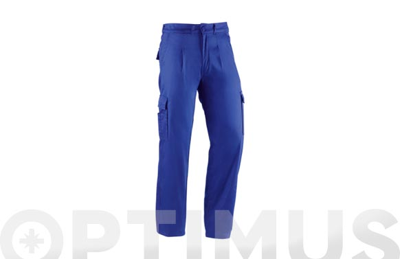 Pantalon algodon multibolsillo basico 220 grs t 52 azulina