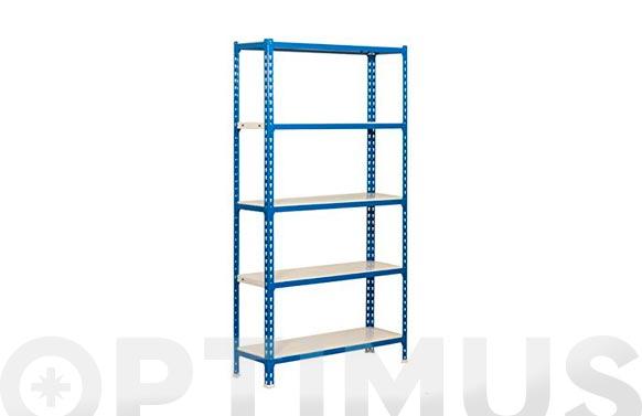 Estanteria sin tornillo simonclick 5 estantes 180 x 90 x 40 cm