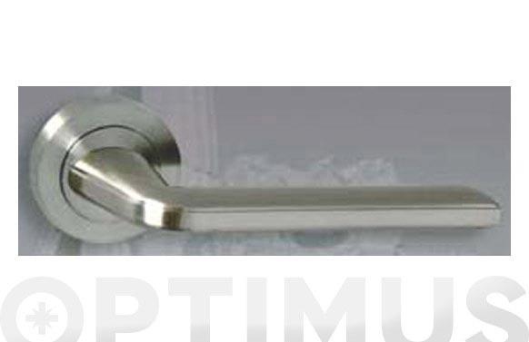 Manilla aluminio roseta (juego) r10156 niquel satinado