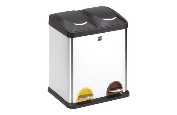 Cubo reciclaje 2 compartimientos 30 l