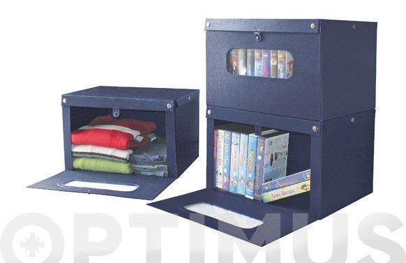 Caja frontal 43x34x25,5cm azul
