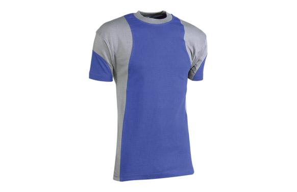 Camiseta algodon azul t l