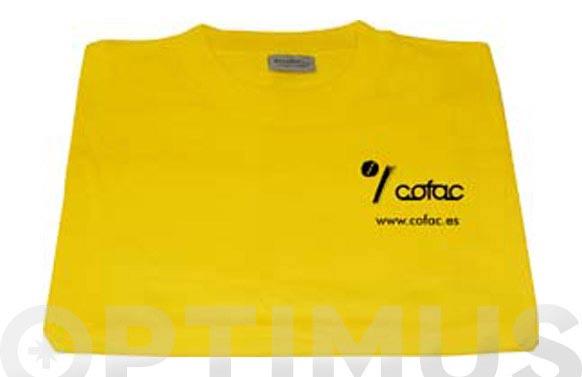 Camiseta algodon 100% cofac x l amarillo