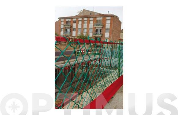 Red de barandilla con banda rodapies 1,1 x 6 m