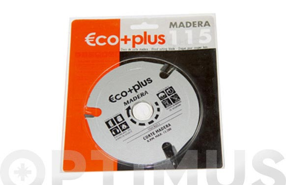 Disco corte madera eco + plus 115x3,8x22mm