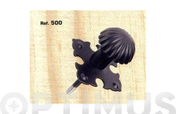 Tirador pomo con rosca 500-24 negro