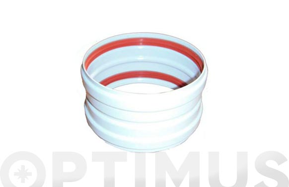 Manguito estanco aluminio blanco ø100
