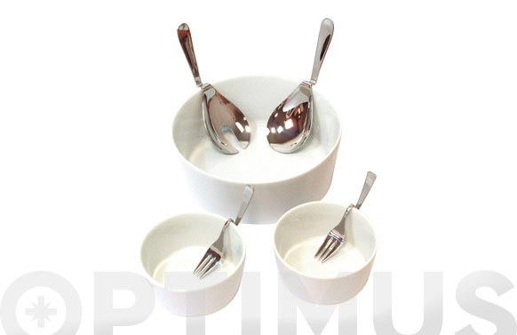 Ensaladera duo porcelana ensaladera +platos +cubiertos