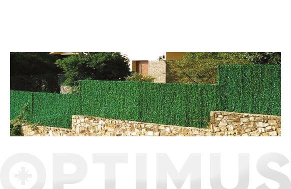 Seto artificial hoja fina 126 varillas verde 1 x 3 m