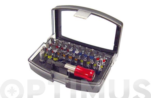 Punta atornillar con adaptador 32 piezas