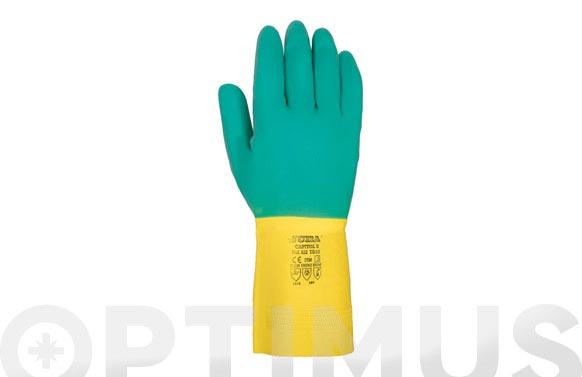 Guante bicolor latex flocado t 9/9½