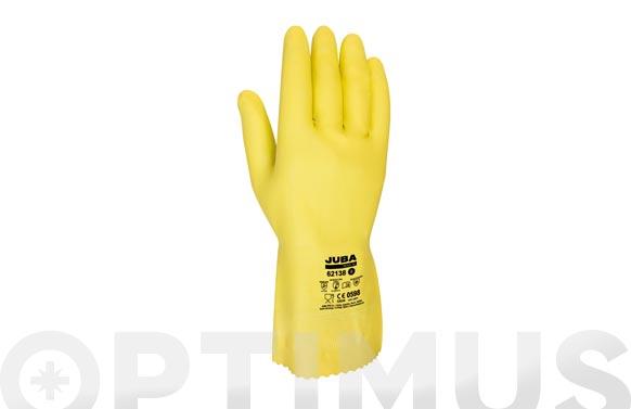 Guante menaje latex t.7-7,5 amarillo