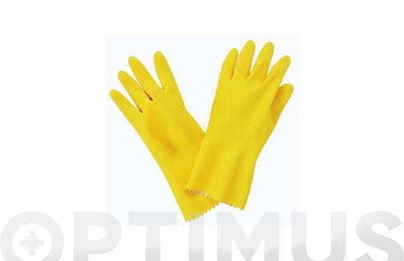 Guante menaje latex amarillo t 8/8,5